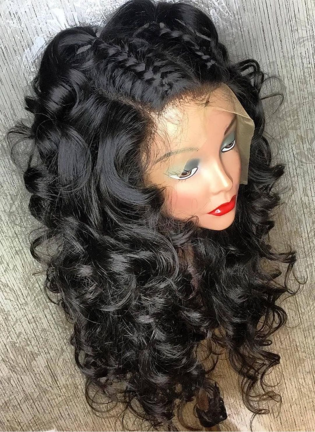 Free 9A Braid Down Loose Wave Lace Front Wig 20 Inch Wallpaper