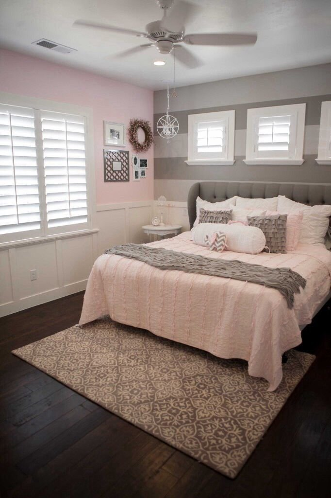 Best Pink And Grey Room Love The Wainscoting Two Tone Grey With Pictures
