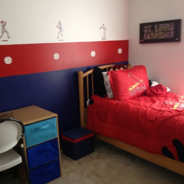 Best St Louis Cardinals Room A Surprise For My Little Guy Decor Toddler Rooms Room Boy Room With Pictures