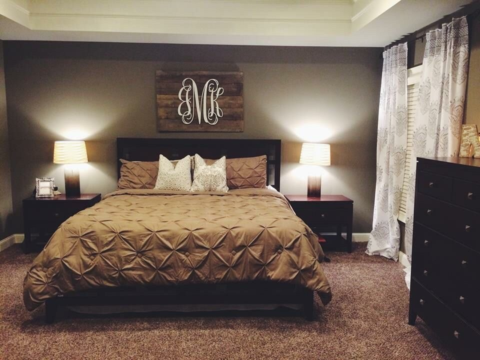 Best Neutral Bedroom With Pallet Monogram For Our Home With Pictures