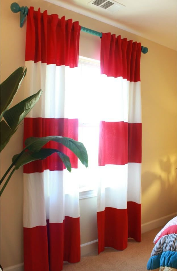 Best Fun Rod And Color Mix With Striped Curtains Swanky Wee With Pictures