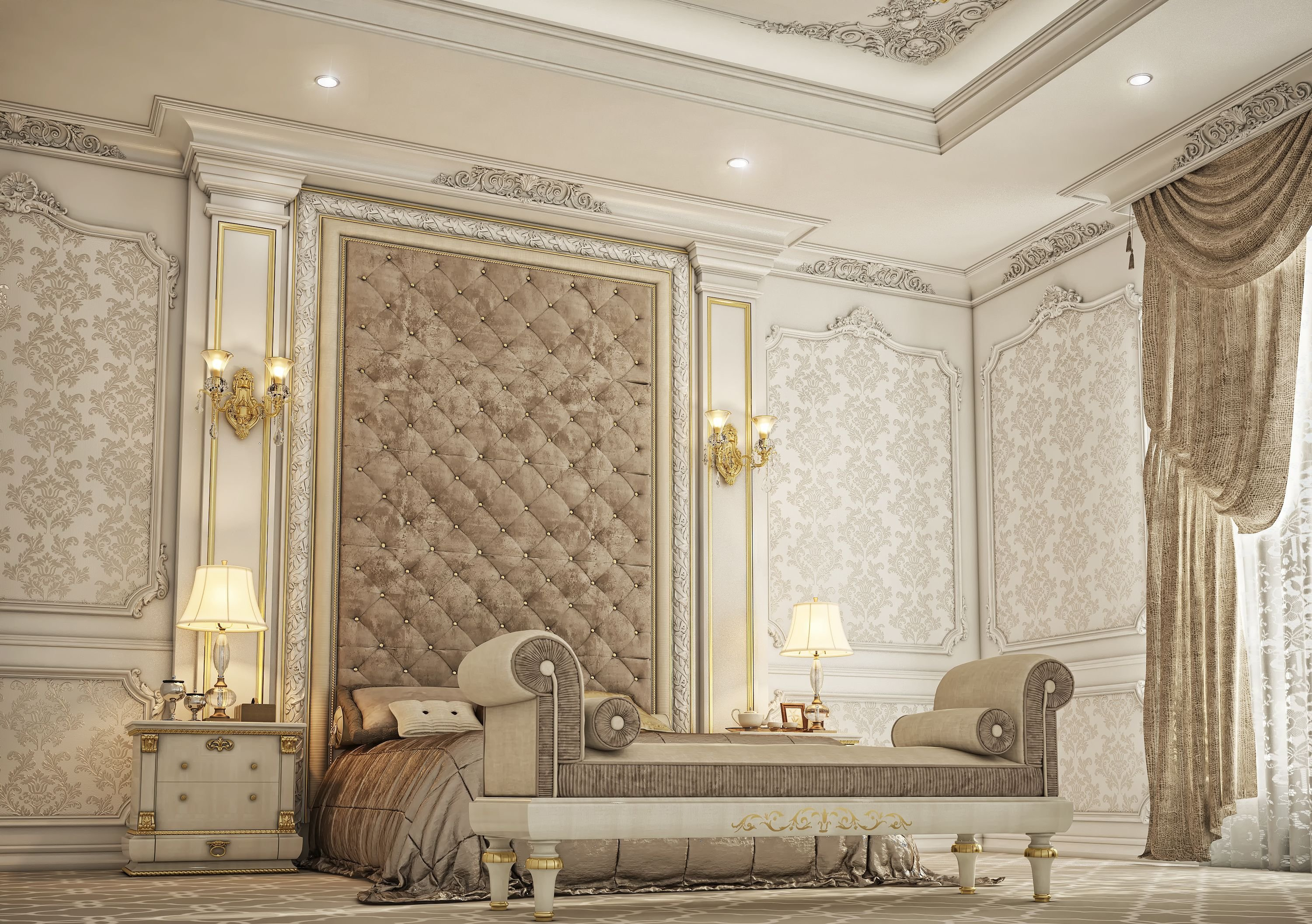 Best Classic Master Bedroom Private Villa Doha Qatar El With Pictures