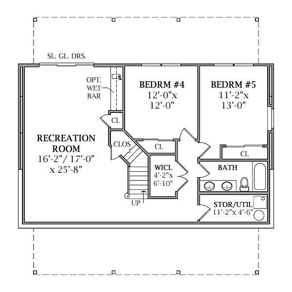 Best Optional Walk Out Basement Plan Image Of Lakeview House Plan Home Ideas In 2019 Basement With Pictures