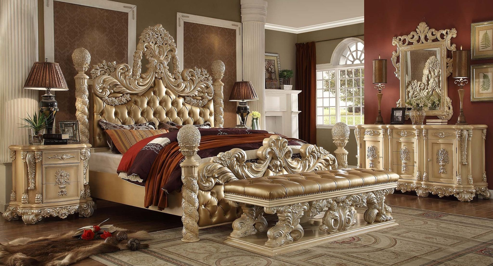 Best H*M*Y Design Hd 7266 Victorian Classic King Bedroom Set With Pictures