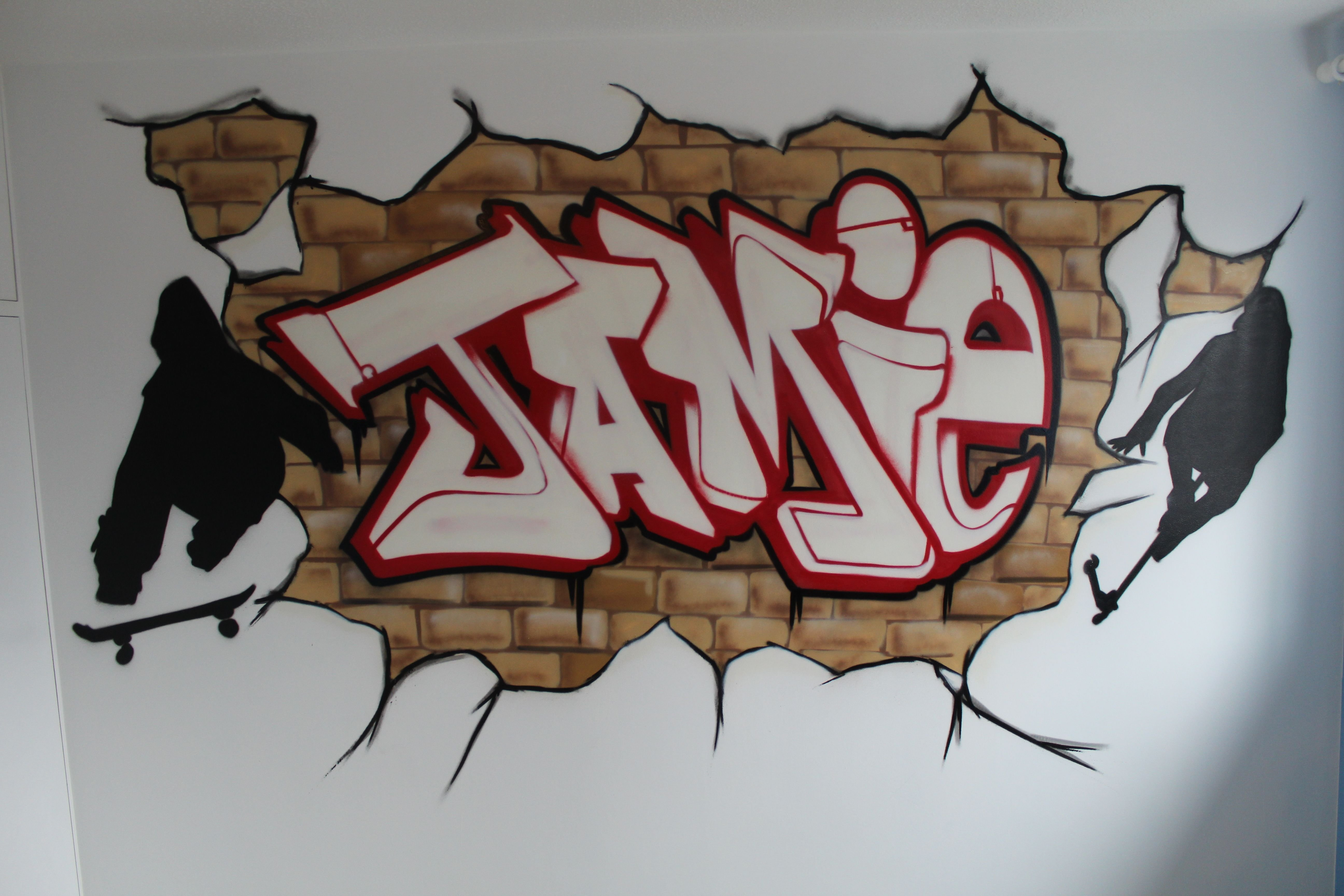 Best Graffiti Murals For Bedrooms Brick Wall Graffiti With Pictures