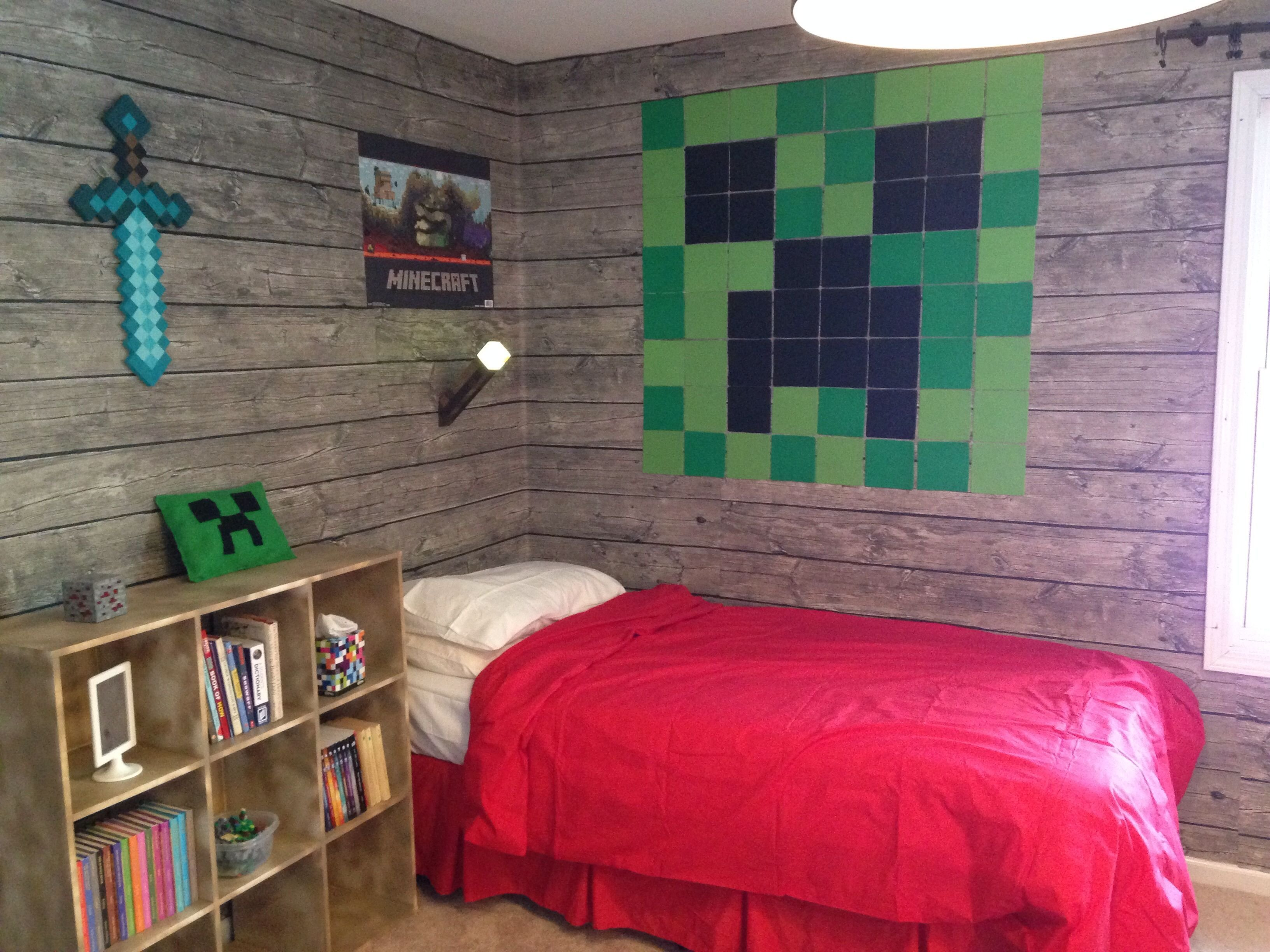 Best Pin By Campbell Kids On Minecraft Stuff Minecraft Room With Pictures