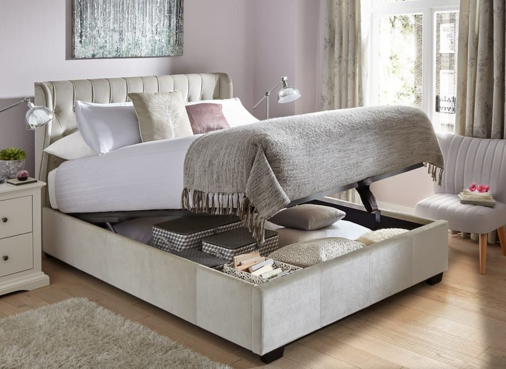 Best Sana Fabric Upholstered Ottoman Bed Frame Ideas For The With Pictures
