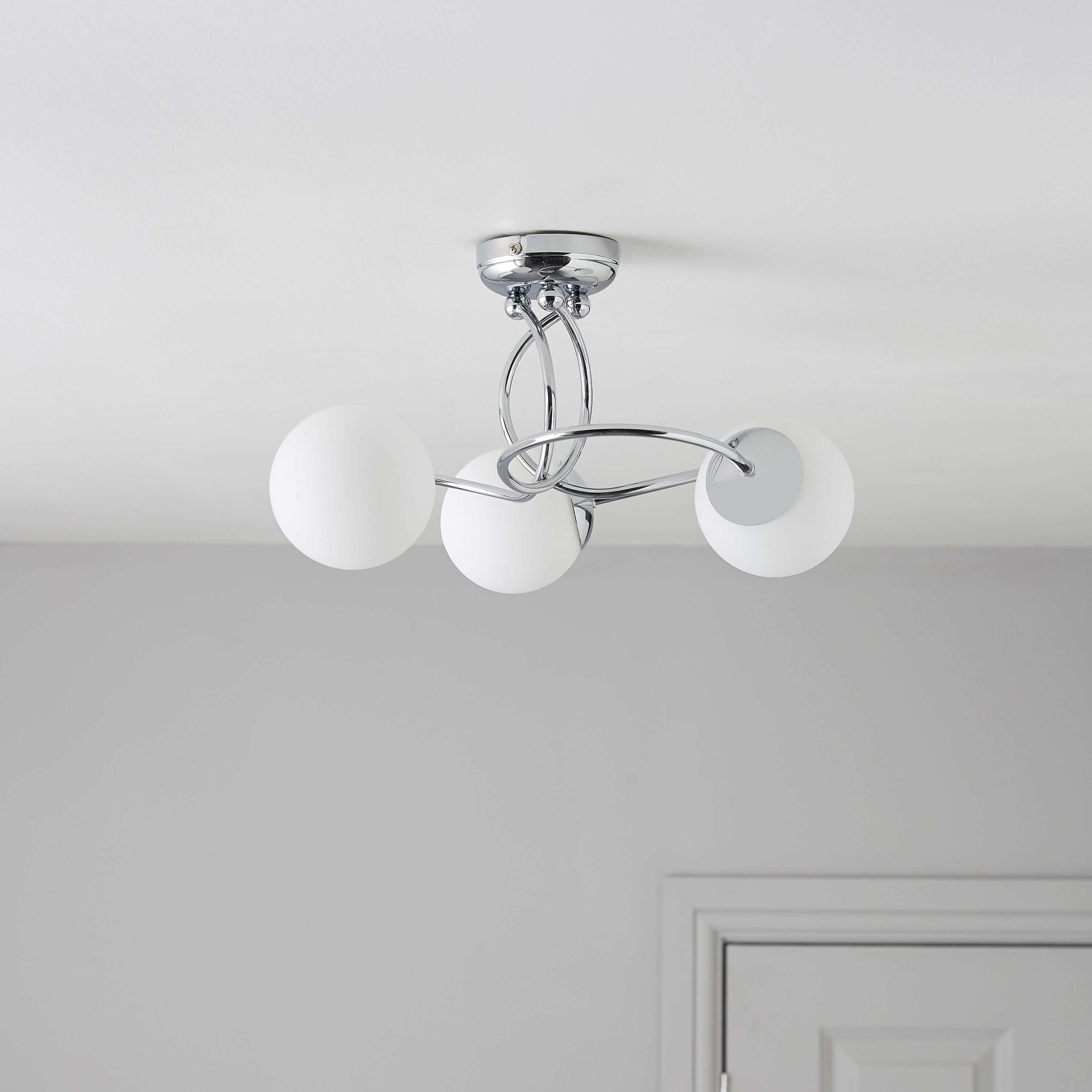 Best Colours Cygnus 3 Semi Flush Ceiling Light Departments Diy At B Q Decorate Me Semi Flush With Pictures