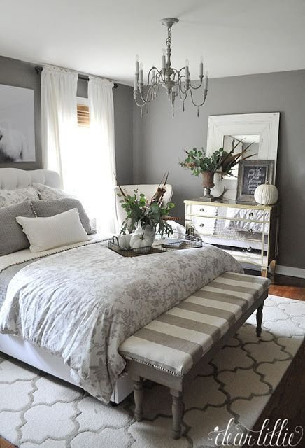 Best Stunning Fall Bedroom In Gray And Neutrals With Natural With Pictures