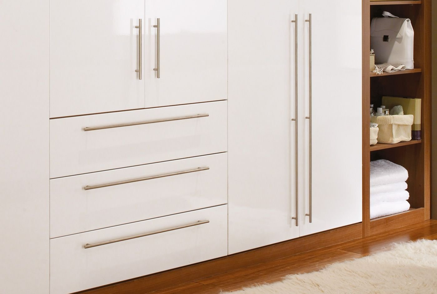 Best High Gloss Wardrobe Doors And Simple Handles Being With Pictures