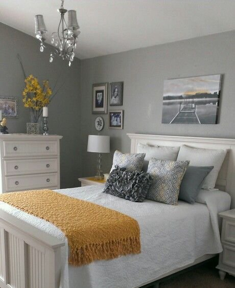 Best Gray And Yellow Bedroom Home Ideas Home Decor Bedroom Bedroom Decor Grey Room With Pictures