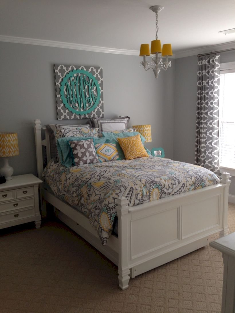 Best 60 Visually Pleasant Yellow And Grey Bedroom Designs Ideas With Pictures