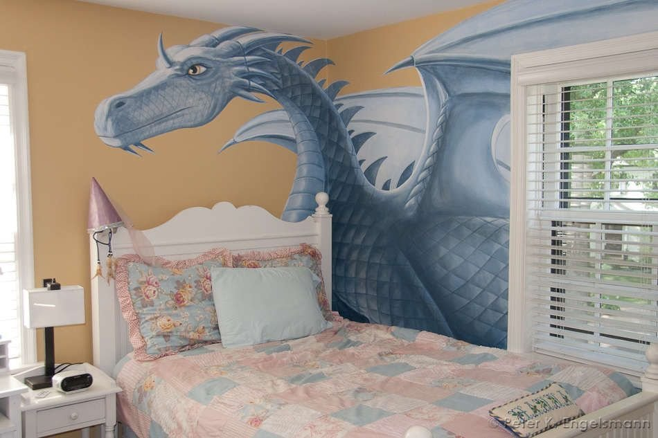 Best Dragon Bedroom Mural Detail Acrylic On Wallboard With Pictures
