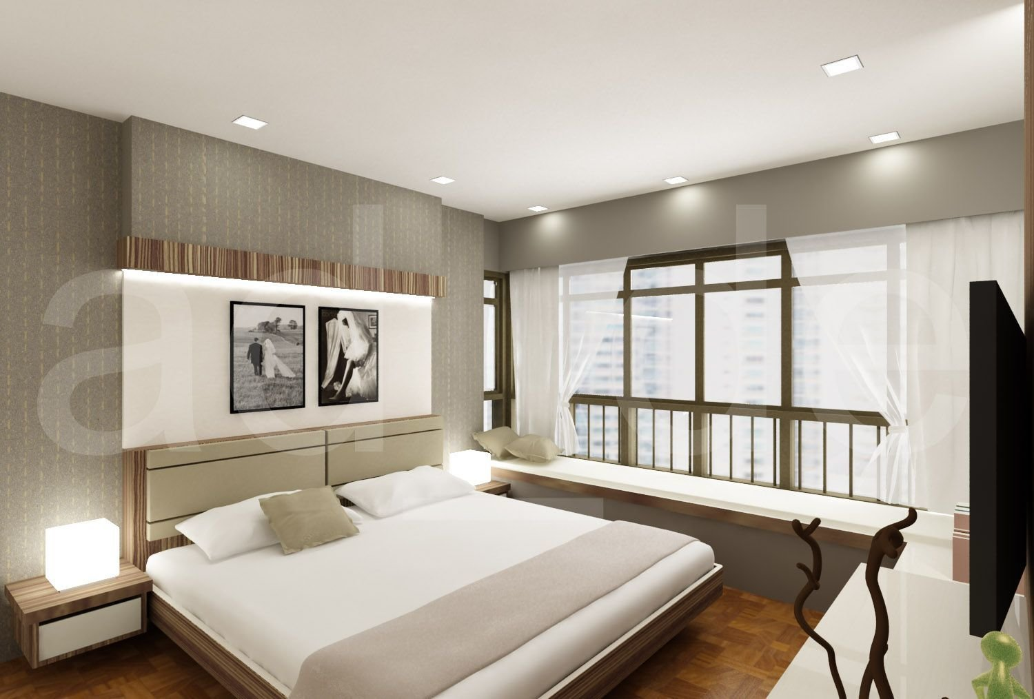 Best Interior Designer Adrian Lau Hdb And Condo Bedroom 3D With Pictures