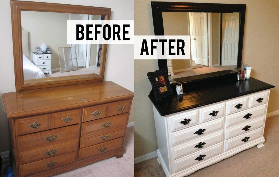 Best Furniture Before And After Diy Bedroom Dresser Makeover With Pictures