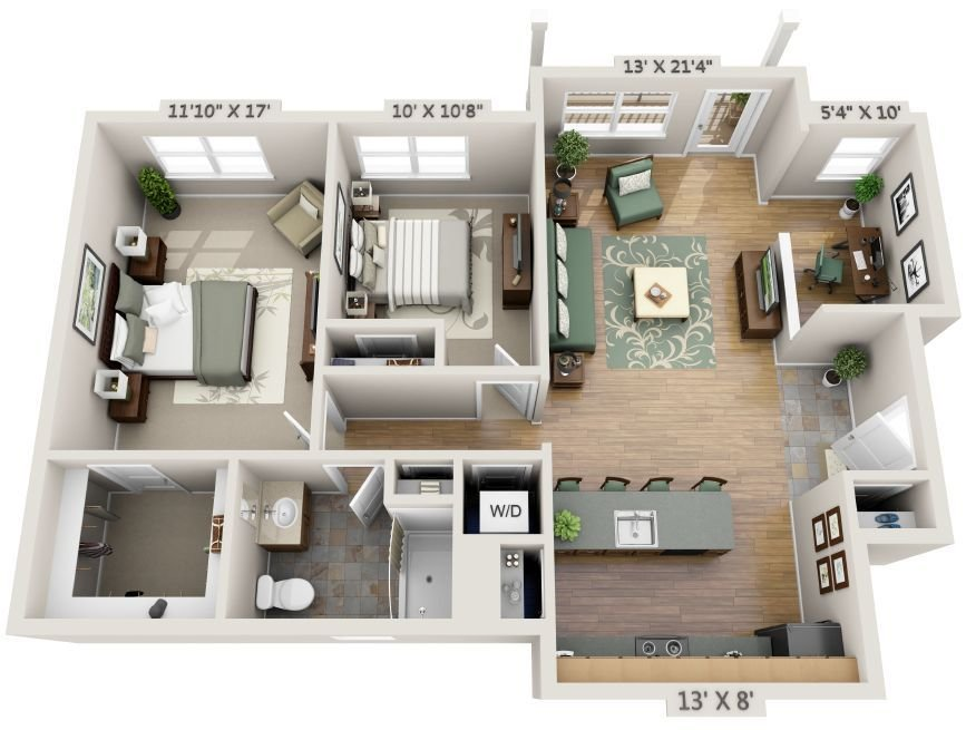 Best 3D 2 Bedroom Apartment Floor Plans Yahoo Image Search With Pictures