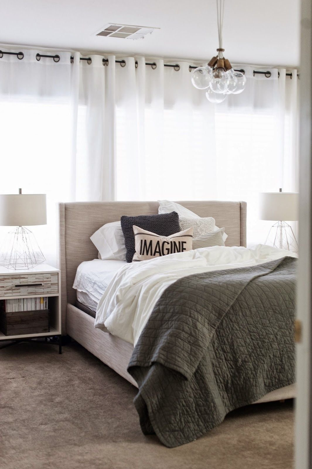 Best Wood Tiled Nightstand From West Elm Spotted West Elm With Pictures