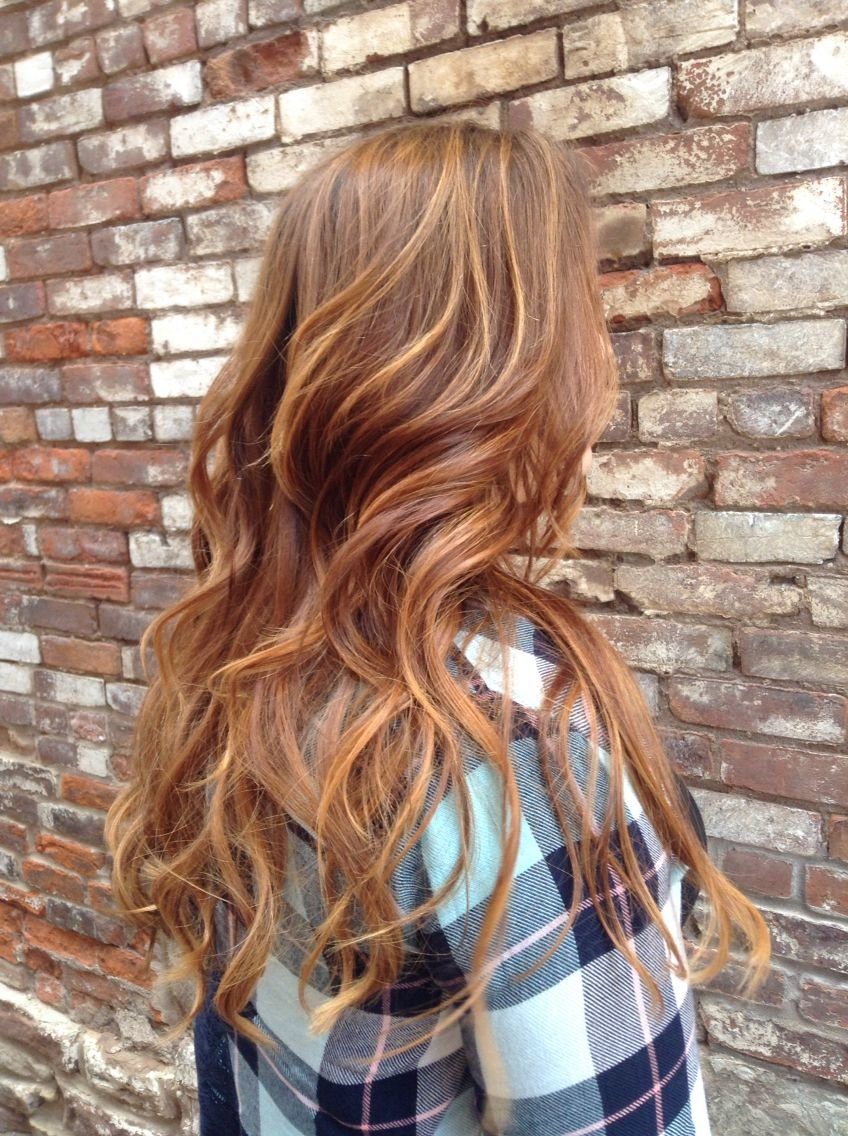 Free Warm Red Brown Hair With Honey Highlights … Hair In 2019… Wallpaper