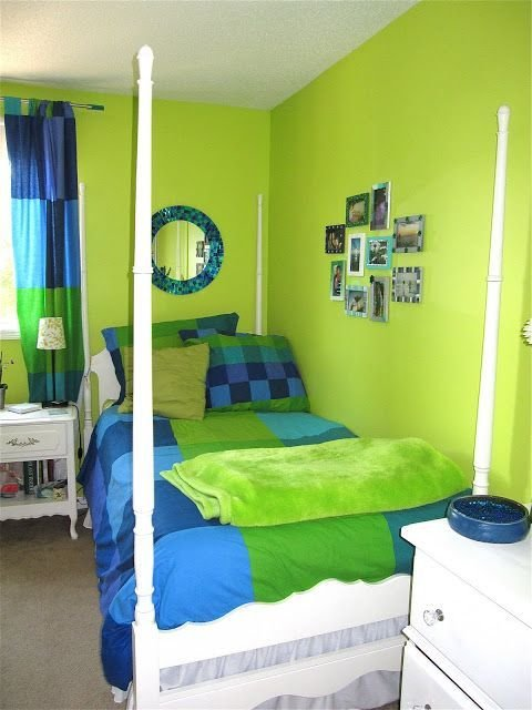 Best Lime Green Bedroom House Projects Green Bedroom Design With Pictures