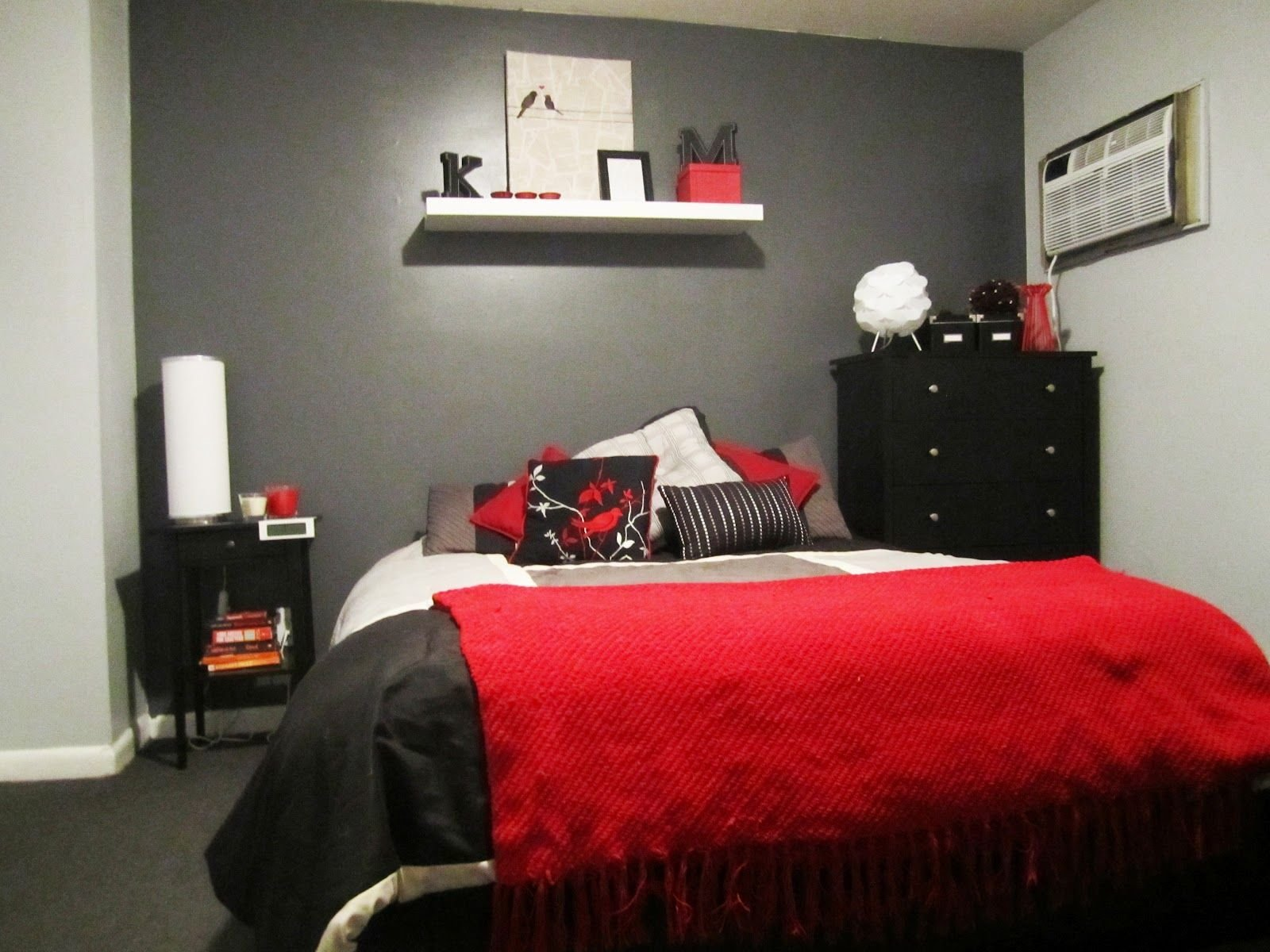 Best Red And Gray Bedroom Went With A Black And Red Colour With Pictures