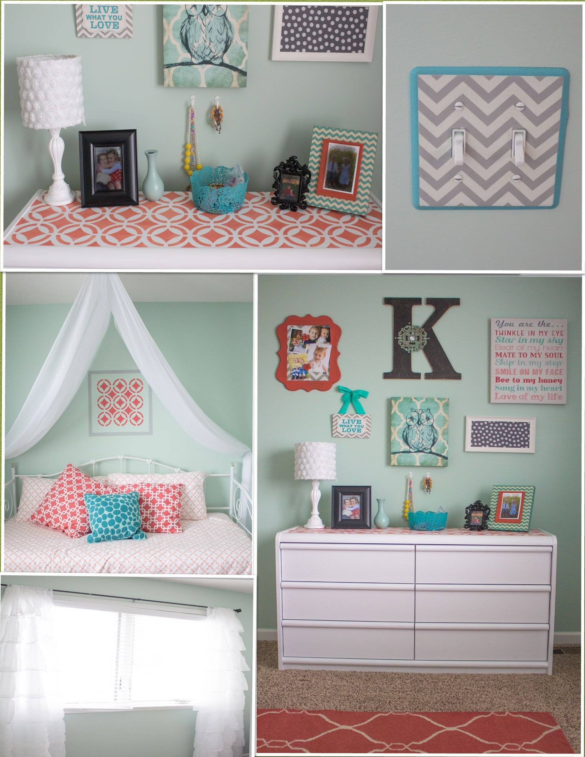 Best My New Favorite Room In The House Love My Mint And Coral With Pictures
