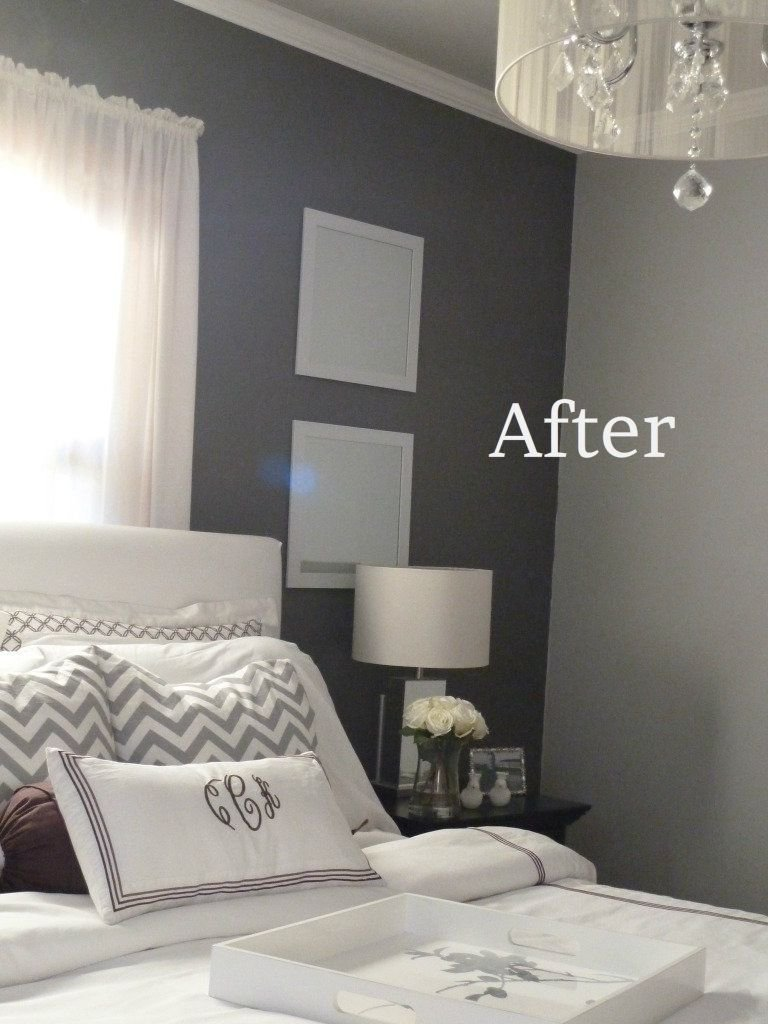 Best Grey Bedroom The Color On The Walls The Light Valspar Seashell Gray 4003 1A The Dark With Pictures