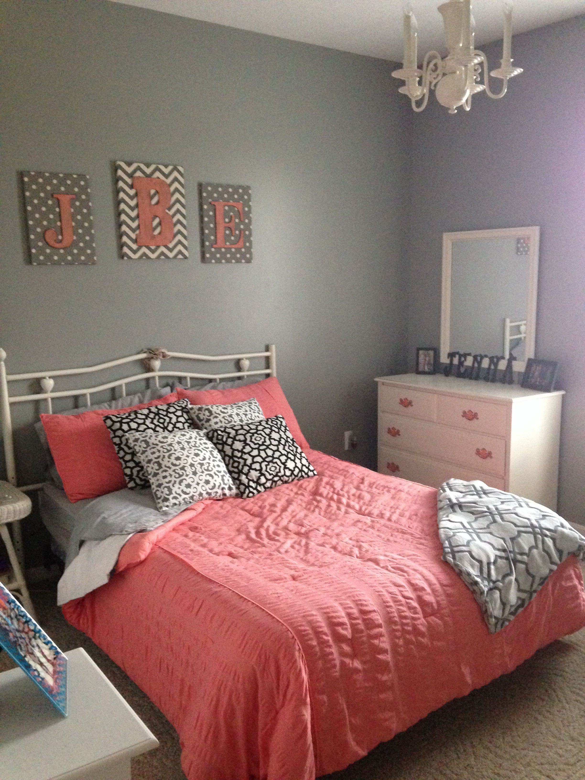 Best Gray And Coral Bedroom Home Coral Bedroom Home With Pictures