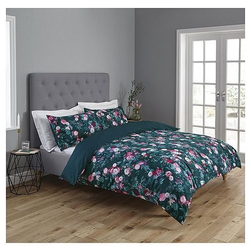 Best Tesco Direct Fox Ivy Floral Duvet Set Master Bedroom Ideas In 2019 Teal Bedding Sets With Pictures