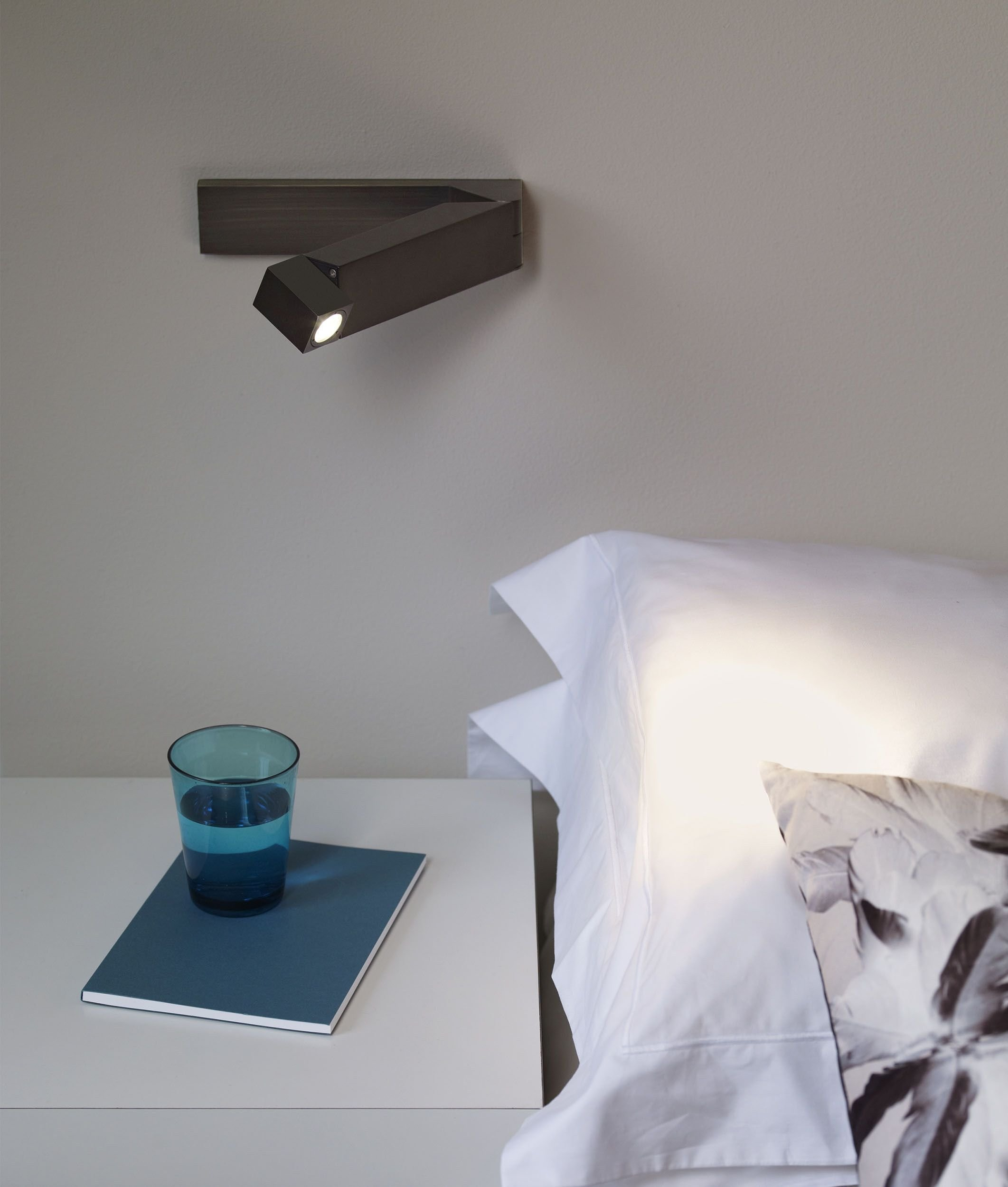 Best Adjustable Led Bedside Reading Light 4 Finishes With Pictures