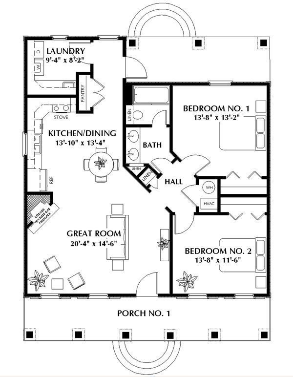 Best Nice Small 2 Bedroom Cabin Plan Add A Small Garage And With Pictures