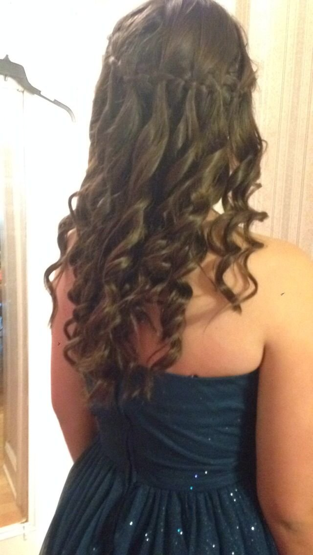 Free Waterfall Braid Around The Head With Curls I Did This For Wallpaper