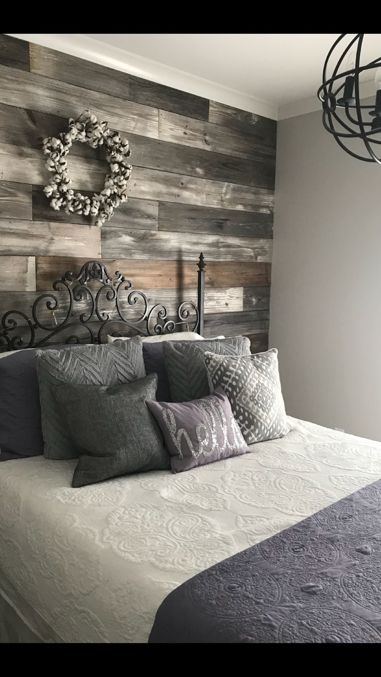 Best Repurposed Shiplap Accent Wall Bedroom Ideas In 2019 With Pictures