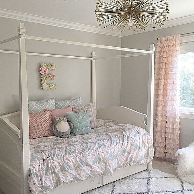 Best Wall Paint Is Sw Repose Gray Girls Room Girl Bedroom With Pictures