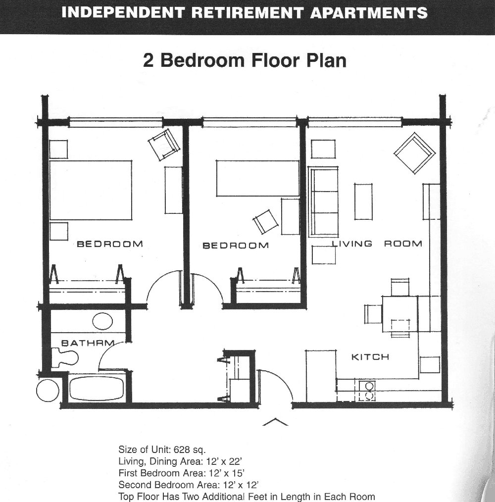 Best Small 2 Bedroom Apartment Plans Apartment Floor Plans 2 With Pictures