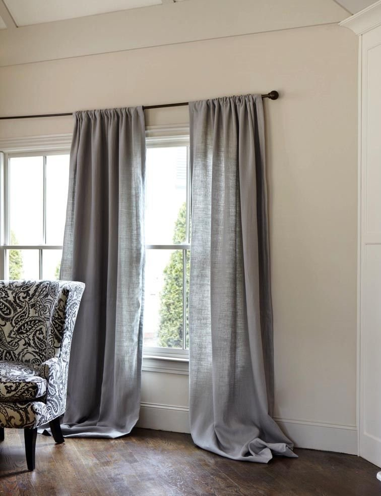 Best Gray Linen Curtains Gray Decor Grey Linen Curtains With Pictures