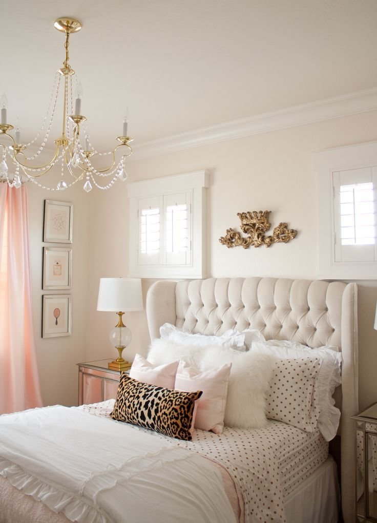 Best Pink And Gold Girl's Bedroom Makeover Bedroom Pink With Pictures