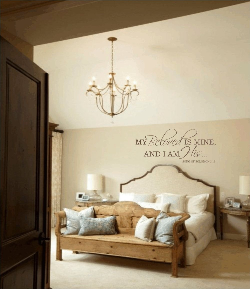 Best Master Bedroom Wall Decal My Beloved Is Mine And I Am His With Pictures