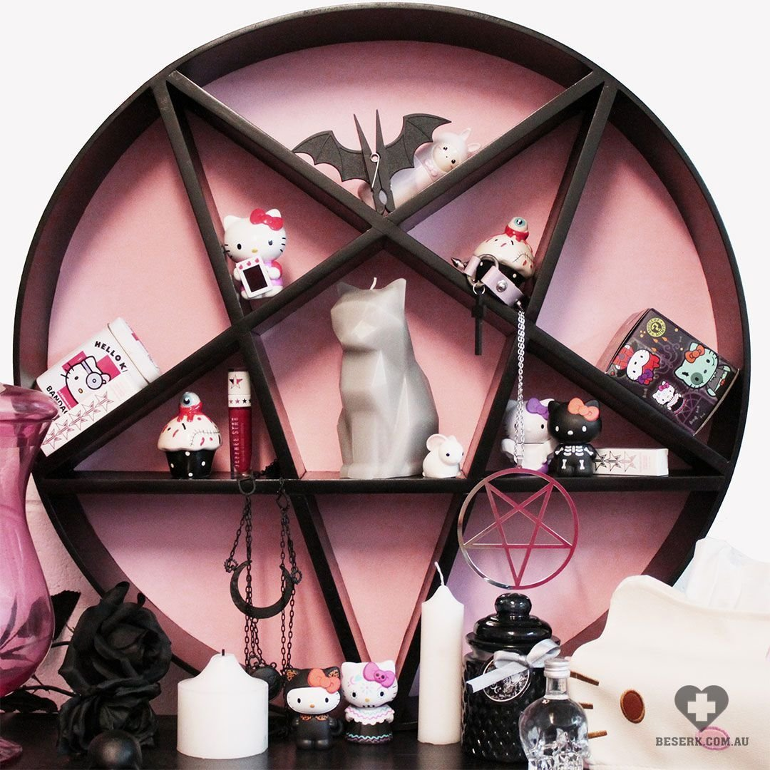 "Best Beserkclothing "" Decipher Designs Pink Pentagram Shelf With Pictures"