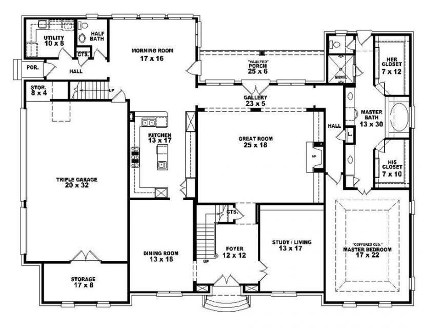 Best 653921 Two Story 4 Bedroom 3 5 Bath French Style House With Pictures