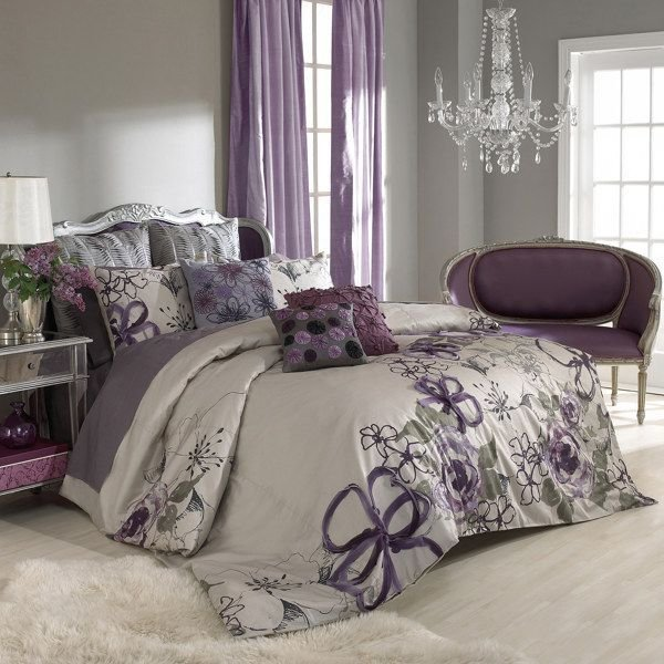 Best Purple And Grey Bedroom By Keeping The Walls A Neutral With Pictures