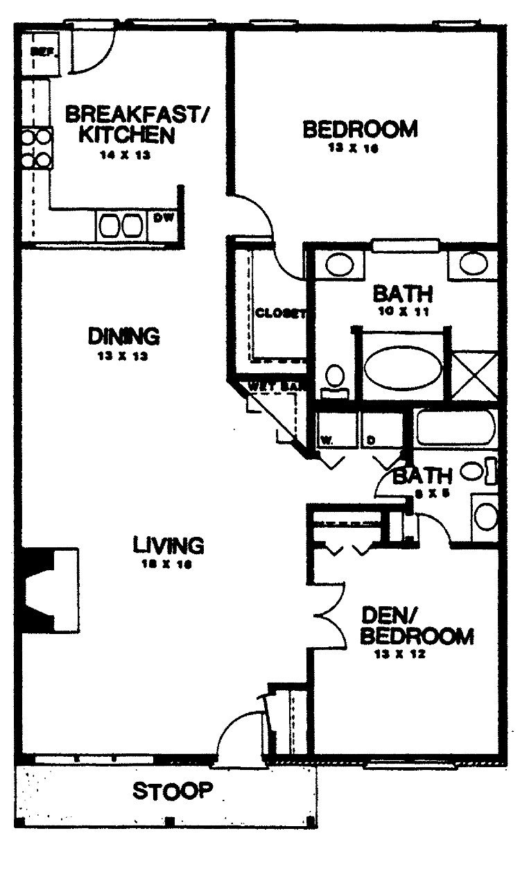 Best Two Bedroom House Plans Home Plans Homepw03155 1 350 With Pictures