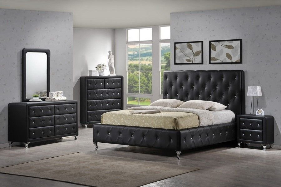 Best Modern Tufted Black Bedroom Set Bedroom Collections With Pictures