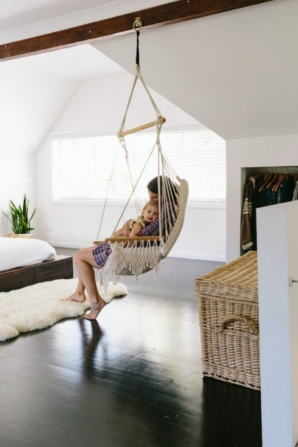 Best Indoor Swings Or How To Be The Coolest Parent In The World Living Rooms Hammock In Bedroom With Pictures