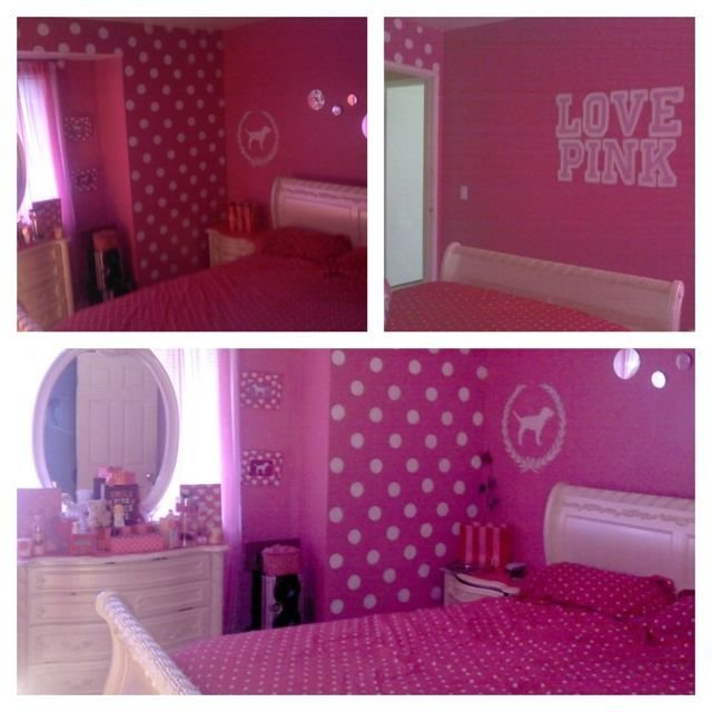 Best My Sisters Room I Painted Victoria Secret Pink Themed With Pictures