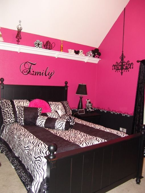 Best Pink And Black T**N Zebra Girls Bedroom Girls Room With Pictures