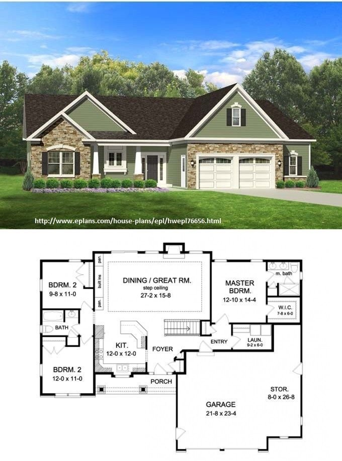 Best Eplans Ranch House Plan – 1598 Square Feet And 3 Bedrooms With Pictures