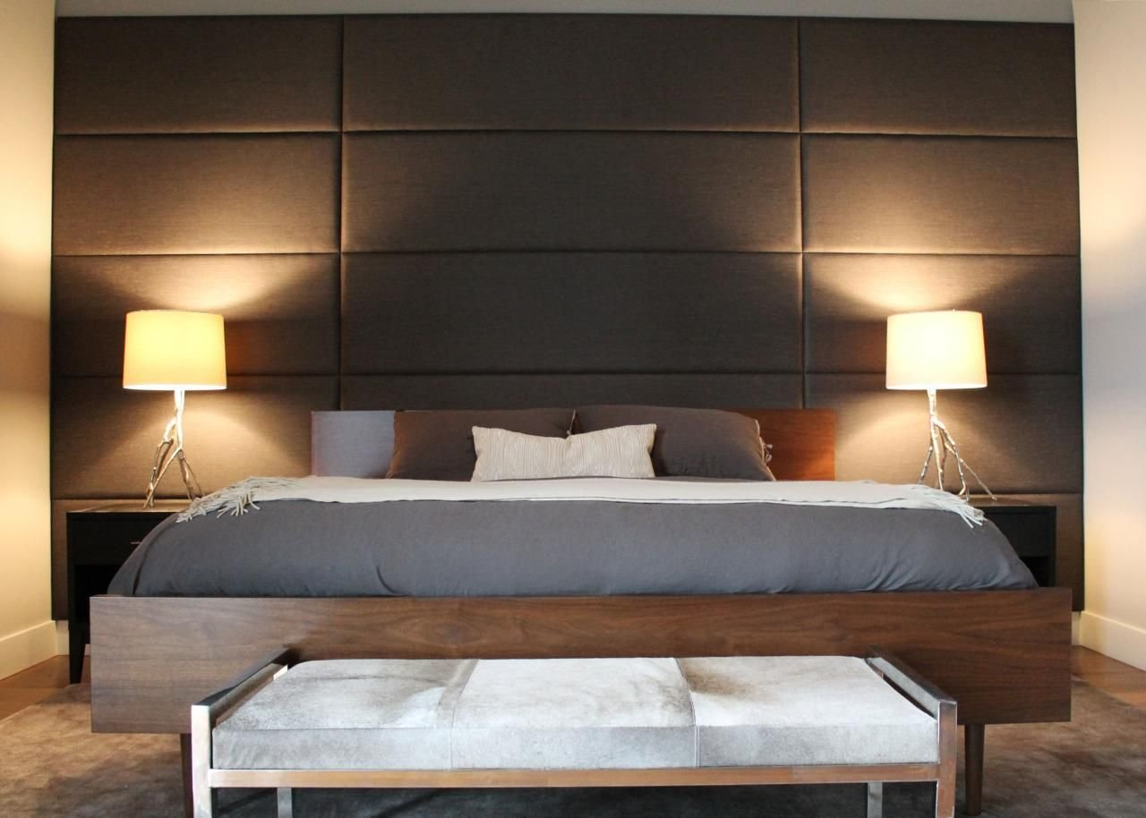 Best Leather Headboard Wall Design Google Search Master Bedroom And Closets Upholstered Walls With Pictures