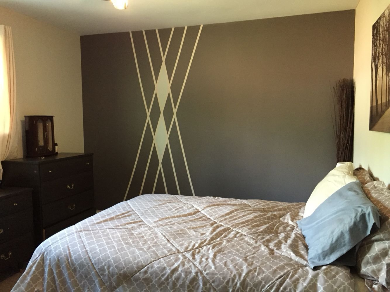 Best Painted Wall With Pattern Design Triangles Or Diamonds With Pictures