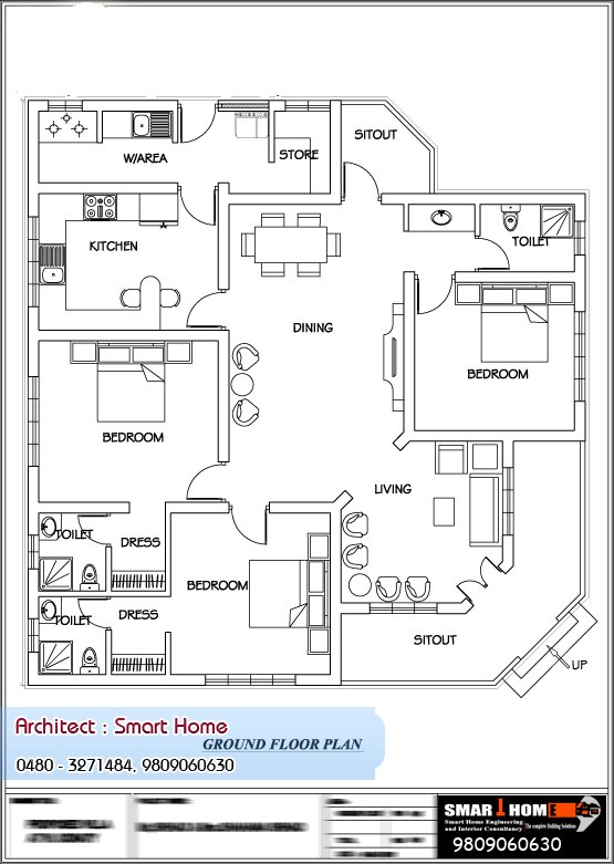 Best Here Is A Good Kerala Style Single Floor House Plan With With Pictures
