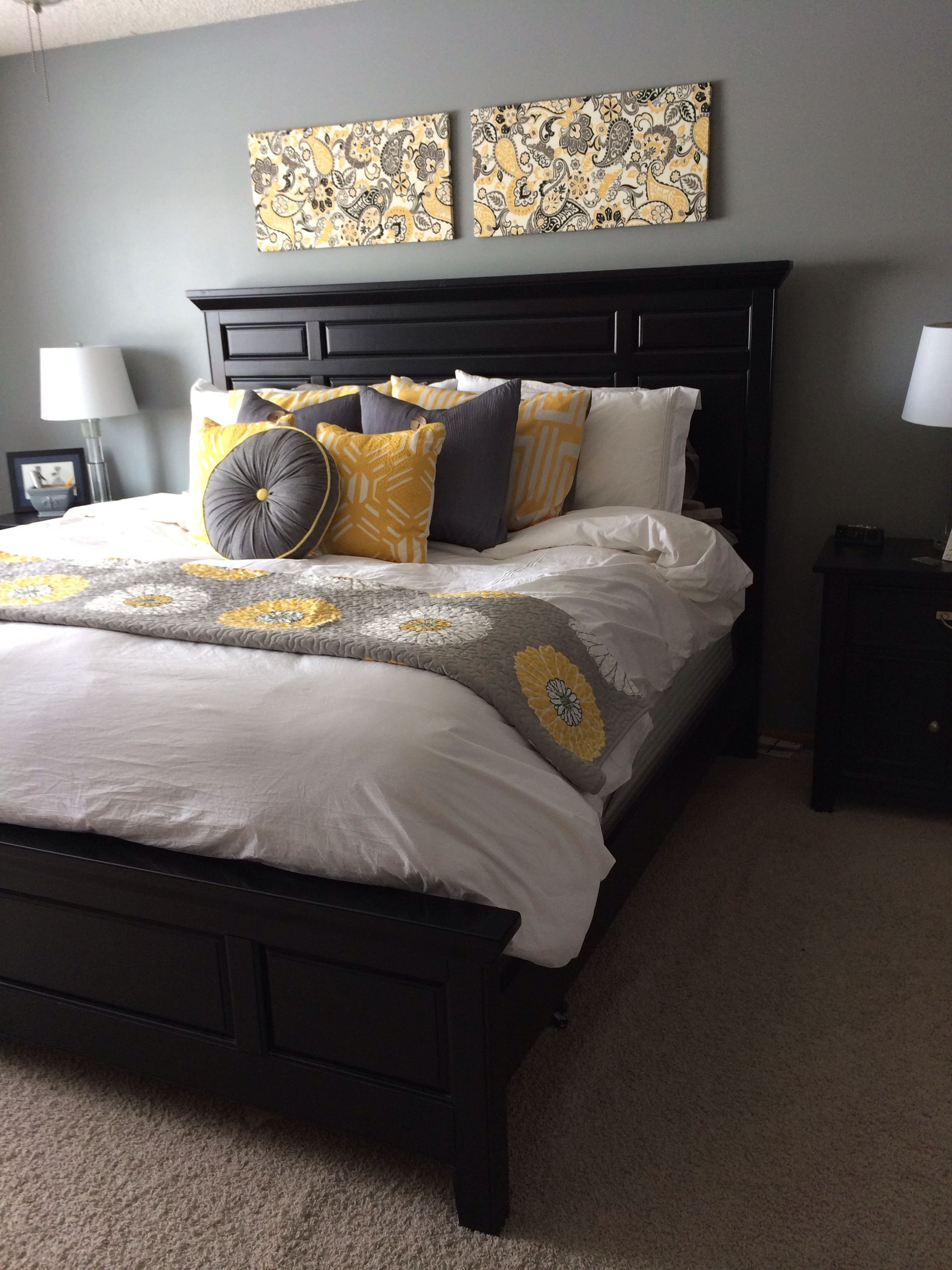 Best Bedroom Yellow And Gray The Knox House Black Bedroom Furniture Bedroom Home Bedroom With Pictures